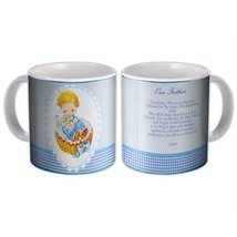 Boy Praying Our Father : Catholic Mug Religious Prayer - $13.76