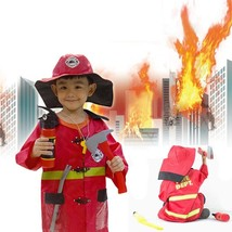 Quliaty Kids Cosplay Sam Fireman Costume Child Christmas Halloween Firefighter - $19.96
