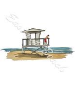 Beach Lifeguard Shack Vinyl Decal Sticker - Car Truck SUV RV Laptop Cooler - $5.99+
