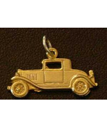 NICE Ford Model A Car Replica Pendant Sterling Silver Charm 24kt Gold Pl... - $15.42