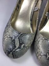 size Cream Black Snakeskin Pumps 8 Rounded 5 Gray Mossimo High Toe Heels Womens wqHx8Yvx