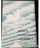 What's Tomorrow's Weather Wall Cloud Chart 1957 Merck Amprol Pro Strep C... - $24.87