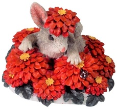 Charming Tails Binkey in a Bed of Flowers 1995 Edition 887/426 - $20.99