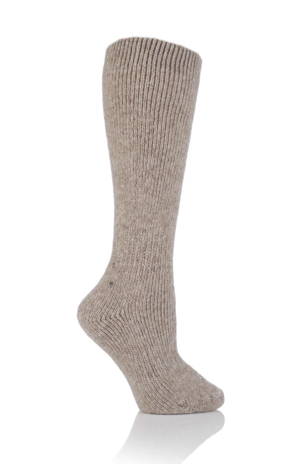 Heat Holders Calcetines mujer largos de lana 2.7 tog rodilla talla 37-42 avena