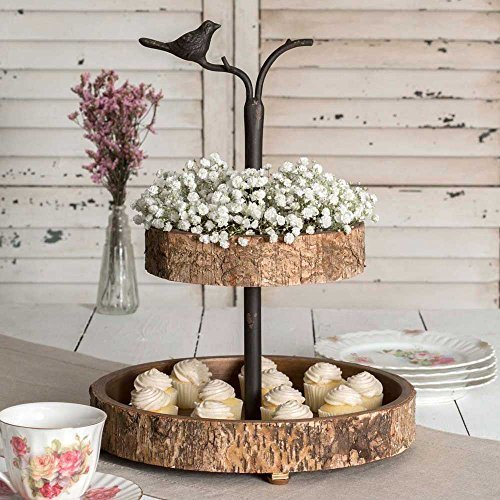 Decorative Country Vintage Style 2 Tier Serving Tray
