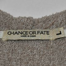 Chance or Fat Women's Heathered Brown Cowl Neck Hooded Hoodie Sweatshirt Size L image 3