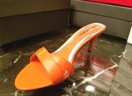 Blossom sublime on or Vegan spring summer patent leather slip Orange in sandal 4FxEFOqvw