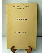 OTELLO Metropolitan Opera Libretto Italian English 1962 book - $14.00