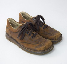 DR MARTENS Brown Roughout Leather Chunky Lace Up Oxford Sneakers Shoes Mens 8 - $19.79