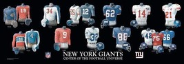 New York Giants Football Art: Center of the Football Universe (10x30 inches) - $14.84