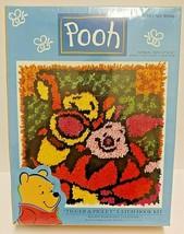 "Caron Disney Winnie The Pooh Tigger & Piglet Latch Hook Kit 13"" x 13"" New  - $23.36"