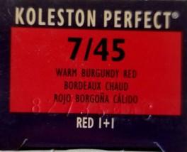 Wella Koleston Creme Haircolor 1+1 7/45 Warm Burgundy Red - $8.59