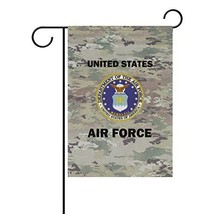 poeticcity US Air Force Camo Camoflage Home Decorative Outdoor Two-Sided... - $14.19