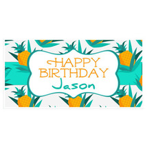 Pineapple in Grass Happy Birthday Banner Person... - $22.50