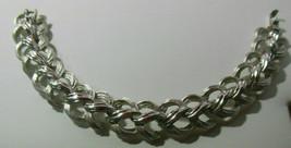 Vintage Signed TRIFARI Silver-tone Link Bracelet Braid Style - $16.82