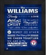 "Texas Rangers ""Family Cheer"" 13 x 16 Framed Print - $39.95"