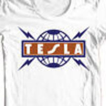 Tesla T shirt 80's heavy metal retro rock concert 100% cotton graphic tee image 1