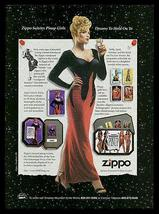 Zippo AD 1996 Zippo Salutes Pinup Girls Collectible Advertising - $14.99