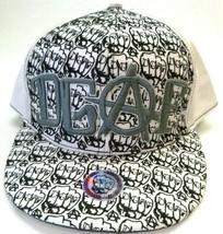 DGAF-Mens Fitted Hat, Size 8 (64 cm) White & Black, DGAF Clothing Logo H... - $23.75