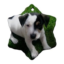 Cute Jack Russell Puppy Dogs Animal Ornament (Snowflake) Decoration Chri... - $4.39