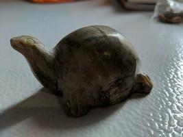 Vintage Tan Jasper TORTOISE Turtle carving hand carved FIGURINE gemstone - £16.38 GBP