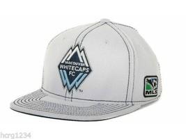Vancouver Whitecaps Adidas MLS Player Team Logo Flex Fit Soccer Cap Hat S/M - $19.90