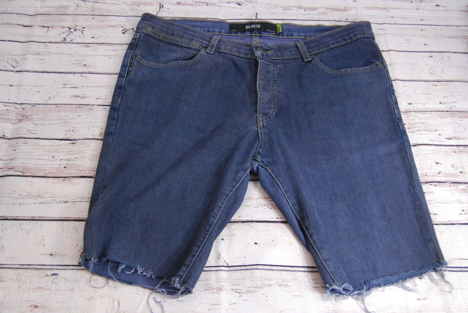 KREW KR3W Cut Off Button Fly Jean Shorts - Size 38