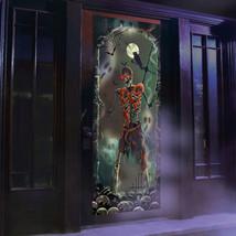 Halloween Lights Sounds Door Panel Skeleton Spooky Decoration Battery Sc... - $25.70