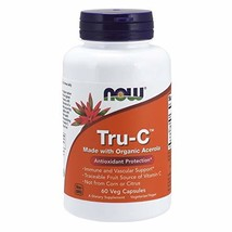NOW Supplements, Tru-C with Traceable Fruit Source of Vitamin C, 60 Veg ... - $18.45