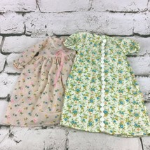 Vintage Flannel Doll Clothes Nightgowns Nighties Lot of 2 - $24.74