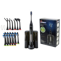 Pursonic Black Rechargeable Electric Toothbrush with Bonus Value Pack - $64.03