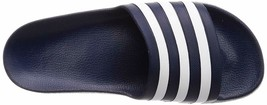 Adidas Slippers Adilette Blue Aqua One-Piece Dry Fast Footbed cloudfoa - $30.40
