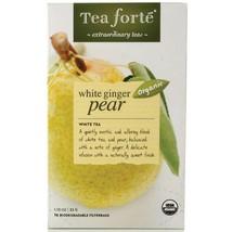 Tea Forte White Ginger Pear White Tea - 16 Filterbags - 6 x 16 Forte Filterbag B - $42.21
