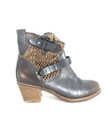 37/6.5 - Rag & Bone Brown Perforated Leather Buckle Ankle Moto Boots 0812OM - $130.00