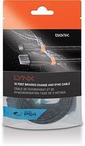 DreamGEAR (DRKJ0) Flat Charging Cable Black/Orange for Bionik Lynx PS4 - $31.51