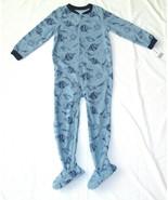 Carters Fleece Footed Pajama Blanket Sleeper 7 8 10 12 14 Space Blue Pla... - $23.74