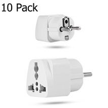 10 Pack USA US UK AU To EU Europe Travel Power Adapter Converter Wall Pl... - ₹1,763.04 INR