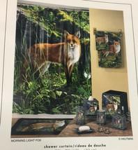 "Brand New Morning light Fox Hautman Brothers Vinyl Shower curtain 70"" x 72"" - $19.79"