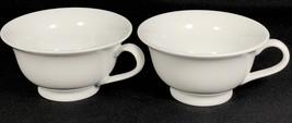 2 PB WHITE by Pottery Barn Coffee Cups Mugs - $19.79