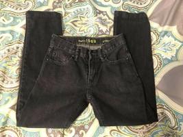 Gap Kids 1969 Black 10 Slim Straight Distressed Jeans Adjustable - $7.70