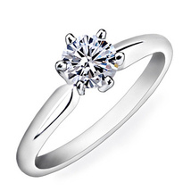 Round Cut CZ 10k White Gold Plated 925 Sterling Silver Ravishing Solitaire Ring - £37.14 GBP
