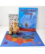 Larry Gets Lost in Chicago by John Skewes Book with Larry Plush Dog and ... - $34.99