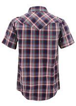 Men's Western Short Sleeve Button Down Casual Plaid Pearl Snap Cowboy Shirt image 7