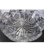 American Brilliant Period Cut Glass Oasis bowl ABP Antique Anderson feat... - $92.57