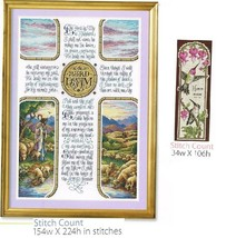 THE LORD IS MY SHEPHERD + BOOKMARK - CROSS STITCH PATTERN ONLY (1a) - $8.86
