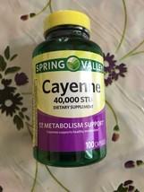 Spring Valley Cayenne Pepper (100) Capsules Pills Capsaicin 40,000 STU Free Ship - $11.87