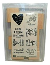 NEW Stampin up Stamp set Business memos Set of 8 Stamps, Thank You, Gift... - $11.63