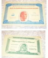 Political Memorabilia Here's The $1,000 McGovern Promised Everyone - $14.99