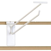 "KC Store Fixtures A01884 Slatwall Scanner Hook, 12"", White Pack of 100 - $106.24"