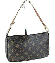 Authentic LOUIS VUITTON Monogram Canvas Pochette Accessories Hand Bag V... - $4.242,41 MXN